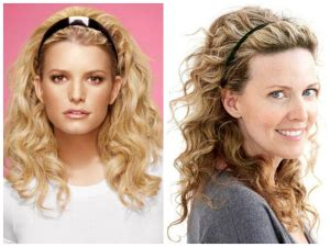 headband shapes and hairstyles curly hairstyle with headband for oval face shape women