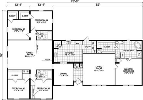 5 bedroom modular homes floor plans 5 bedroom double wide mobile home floor plans 30