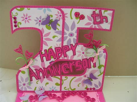 Handmade Anniversary Cards For Parents - vishesh collections handmade by deepti 25th anniversary