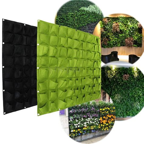 wall herb planter indoor 72 wall pockets hanging garden wall flower planter bag