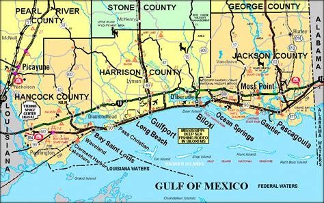 map of gulf coast american legion post 119 gulfport mississippi mississippi gulf coast map and offshore islands