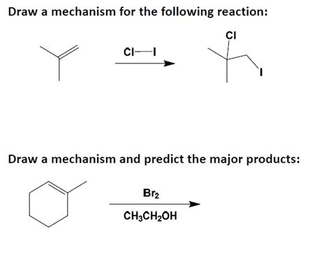 doodle how to make mechanism draw a mechanism for the following reaction draw