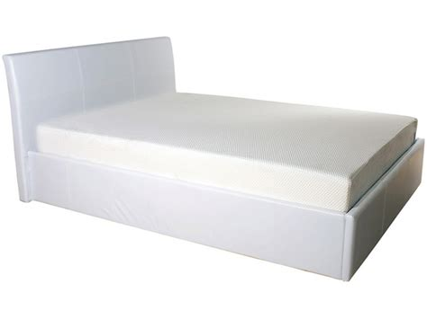 Ottoman Single Bed Frame Gfw Denver 3ft Single White Faux Leather Ottoman Lift Bed Frame By Gfw