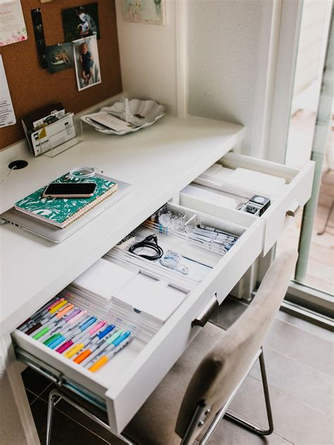 How To Keep Your Desk Organized by Margaret S Office Nook How To Keep An Organized Desk