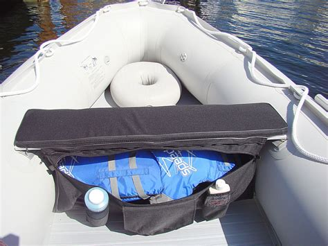 inflatable boat bench seat under seat storage bags and seat cushions for inflatable