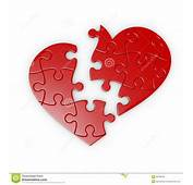 Puzzle Of A Broken Heart Royalty Free Stock Photos  Image