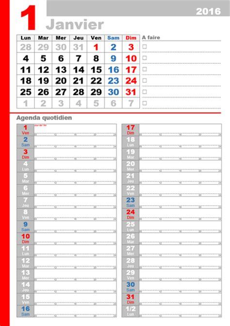 Calendrier 2016 Belgique Mensuel Calendriers Office