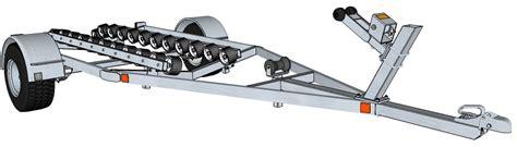 boat trailer roller dimensions jet ski pwc trailer plans building instructions
