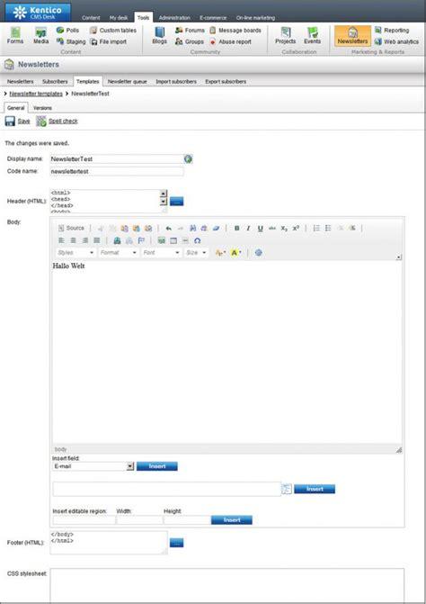 kentico email template das net cms kentico contentmanager de