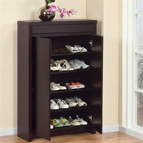 front door shoe storage enitial lab 10340 hess studio 5 shelf shoe cabinet in red