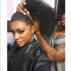 weave hair shows 2015 reality star porsha williams shows off natural locks