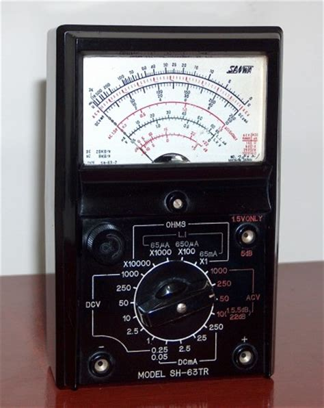 Multimeter Analog Sanwa analog multimeters 171 www museu tecnologia br
