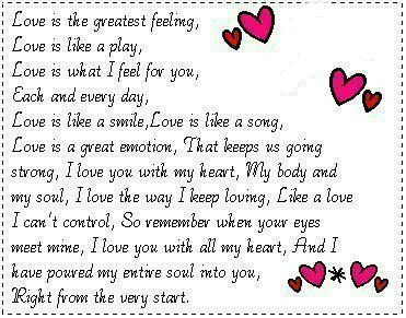 love   greatest feeling love myniceprofilecom
