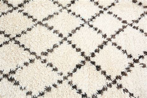 Africa Home Decor moroccan white and black beni ouarain rug at 1stdibs