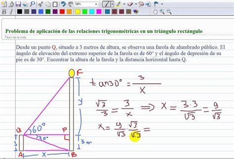 imagenes de razones matematicas problema de aplicaci 243 n de triangulos rect 225 ngulos mp4 youtube