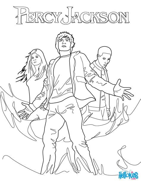 percy annabeth and grover underwood coloring pages