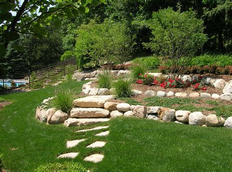 landscape ideas for hilly backyards backyard landscaping ideas with the hill outdoors