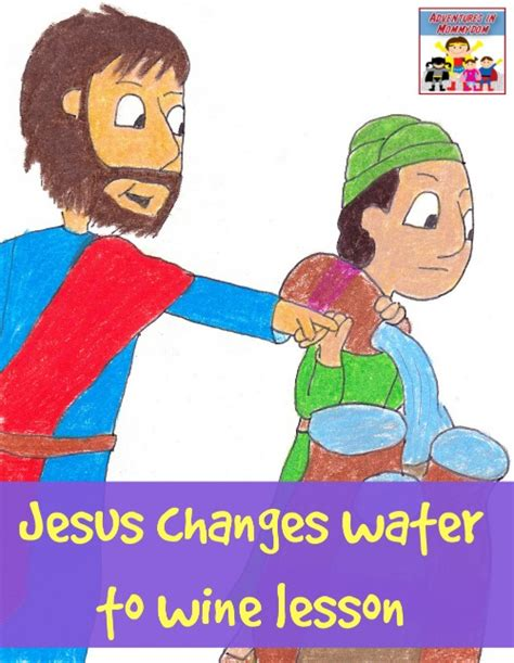 wedding at cana sunday school activities jesus changes water into wine craft and lesson