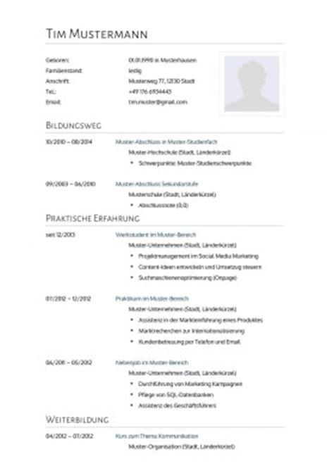 Lebenslauf Muster Rechtsanwalt 44 Lebenslauf Muster Vorlagen F 252 R Die Bewerbung 2015