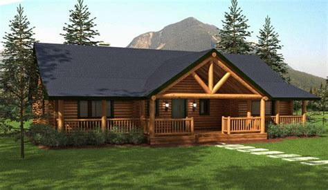 207flr house plans ranch style hot springs cottage plan ranch style homes hickory spring log home floor plans