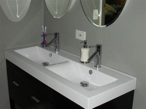 double bathroom sinks for small spaces double sink vanity top trendy bianco carrara marble