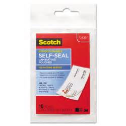 scotch business card protectors opentip scotch mmmlsr85110g self sealing laminating