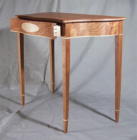 Upholstery Furniture Serpentine Hall Table Craig Thomas White
