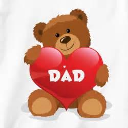 teddy bears with hearts love dad teddy bear heart t shirt for kids clipart