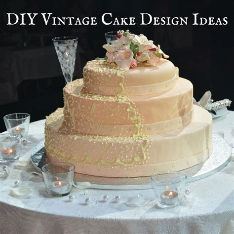 diy wedding cake ideas diy vintage cake design ideas for a steunk wedding