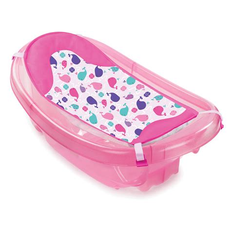 pink baby bathtub sparkle n splash newborn to toddler bath tub in pink