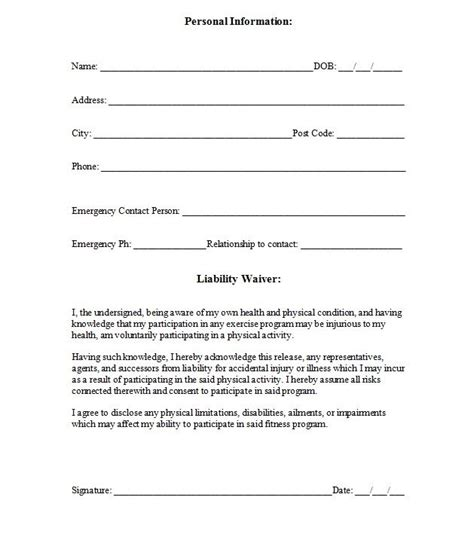 certification letter for victim of family violence waiver printable sle release and waiver of liability agreement