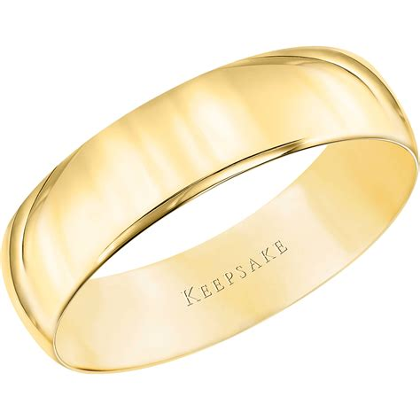 Wedding Bands by Keepsake 10kt Yellow Gold Wedding Band 5mm Walmart