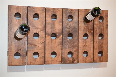Rustic wooden wine rack wooden wine rack the plans with the diy