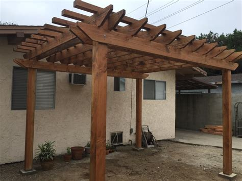 douglas fir pergola with penofin stain applied yelp