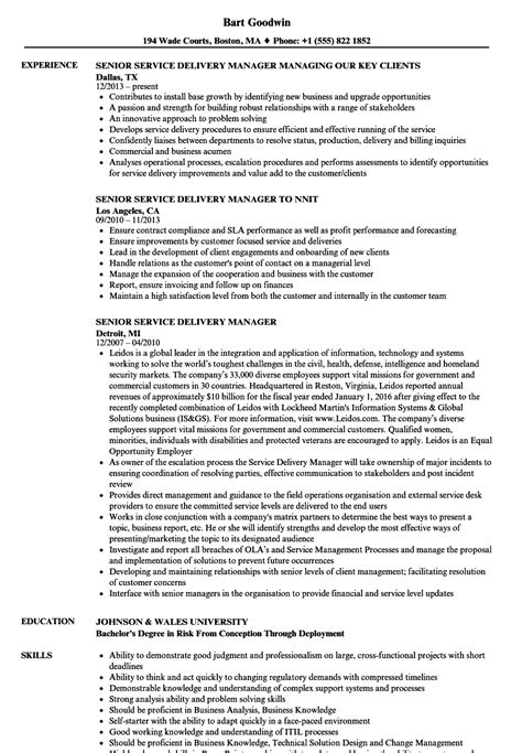 resume format for service delivery manager cv template service delivery manager gallery certificate design and template