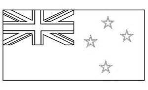 australian flag template to colour flags of the world colouring pages new zealand