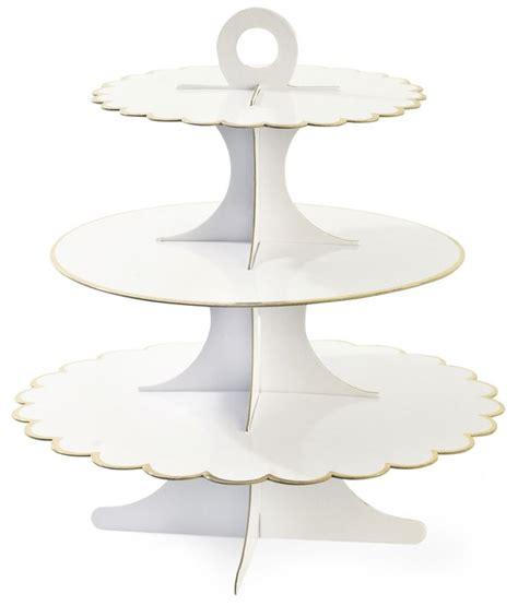 etagere groß edler 3 stufiger cupcake etagere aus pappe in wei 223 mit