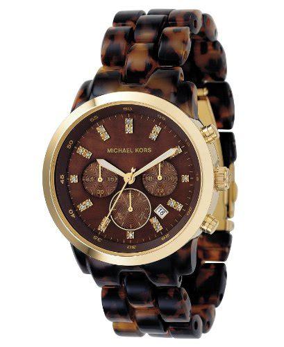 Mk New York Rantai Gold White New michael kors women s mk5216 chronograph tortoise