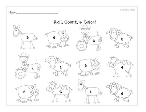 Farm Worksheets Preschool by 185 Best Images About Color Math Worksheets On