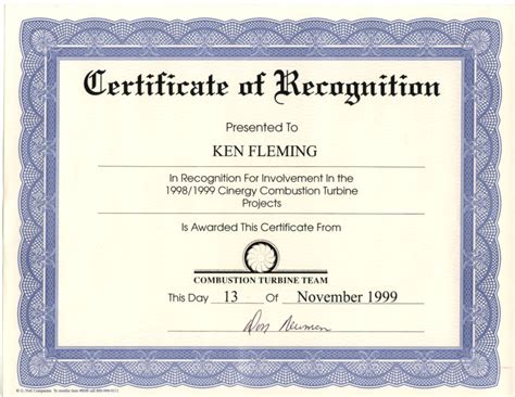 certificate of appreciation wording exles
