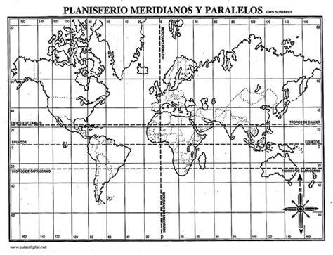 imagenes husos horarios jpg planisferio meridianos y paralelos con nombres flickr