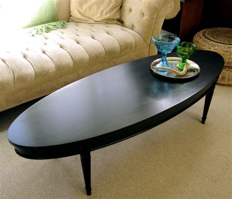 oval black coffee table sweet tree furniture black oval coffee table