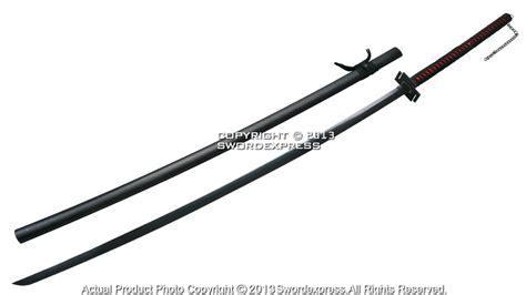 Pedang Samurai Katana Ichigo Bankay Black 67 quot ichigo tensa bankai cutting moon anime katana