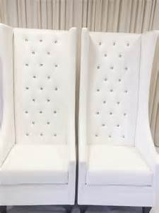 Home chairs wooden leather chairs royal high back diamond tufted chair
