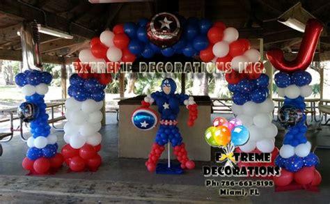 gmail themes superhero captain america balloon decorations shield balloon arch