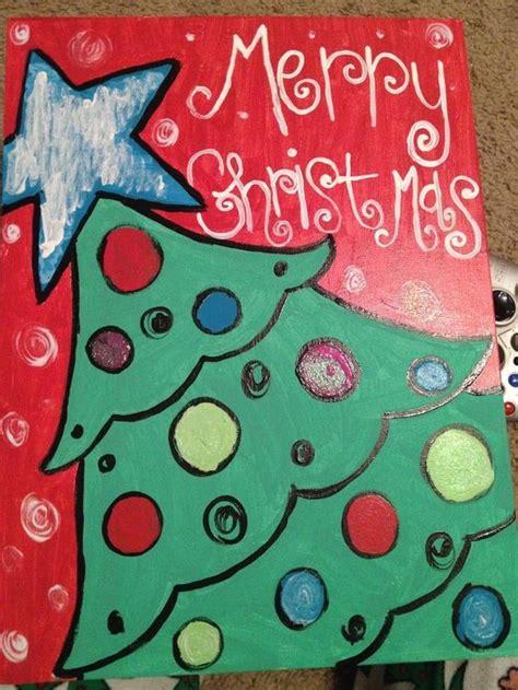 cute tree christmas pinterest cute christmas tree canvas paint idea for the holiday