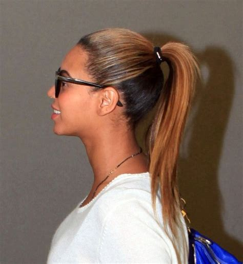 beyonce knowles high ponytail hairstyle hairstyles weekly