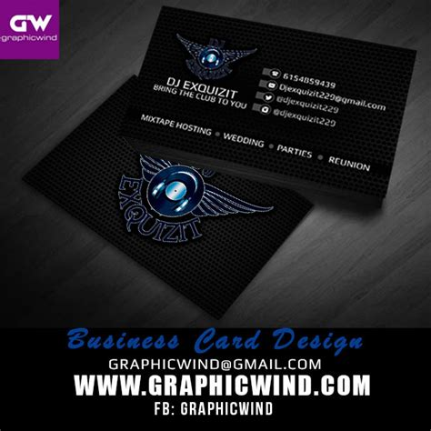 dj business card template photoshop graphicwind creative designs dj business card design