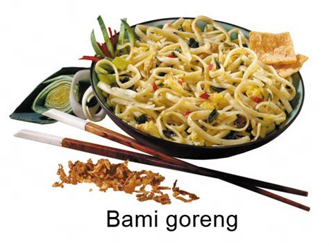 substitutions   Is Bami Goreng the same as the dish