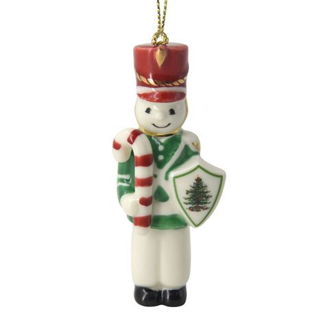christmas tree snowman at arms ornament by spode